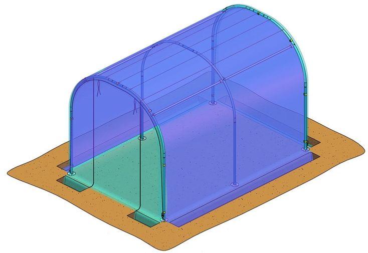 Bâche de couverture pour serre de jardin tunnel Richel P813406