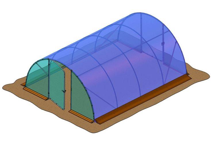 bâche de remplacement pour serre tunnel Richel 6 x 4,5 m J45602