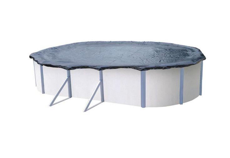 b che hiver pour piscine hors sol m tal ou r sine ovale 6 40x3 90 b che hiver pour piscines. Black Bedroom Furniture Sets. Home Design Ideas