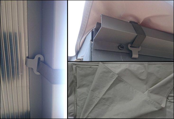 Bâche pour Carport Double en Aluminium et Toiture Polycarbonate
