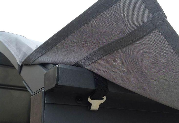 b che pour carport double en aluminium et toiture polycarbonate habrita. Black Bedroom Furniture Sets. Home Design Ideas