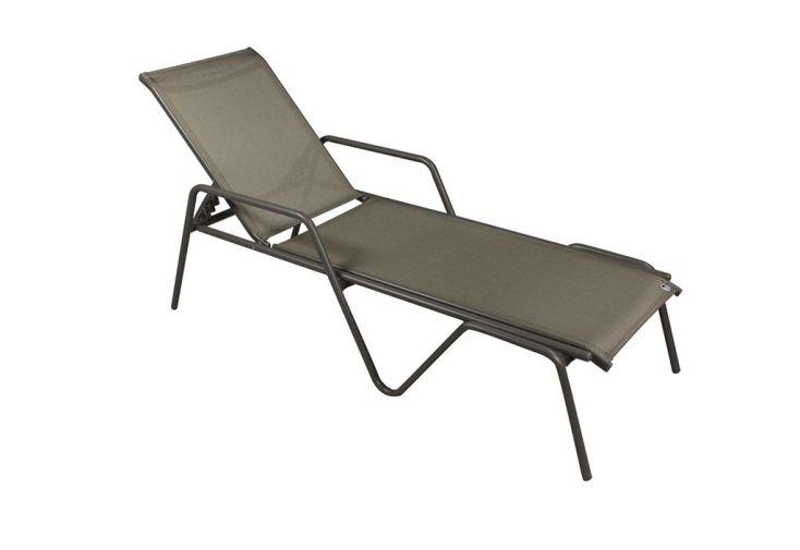 Bain de soleil alu et textil ne zen caf dcb garden - Bain de soleil alu textilene ...