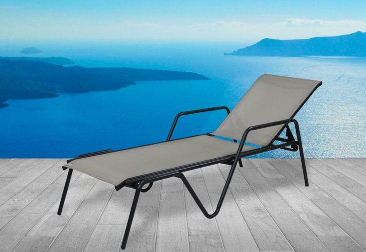 bain de soleil alu et textil ne zen gris dcb garden. Black Bedroom Furniture Sets. Home Design Ideas