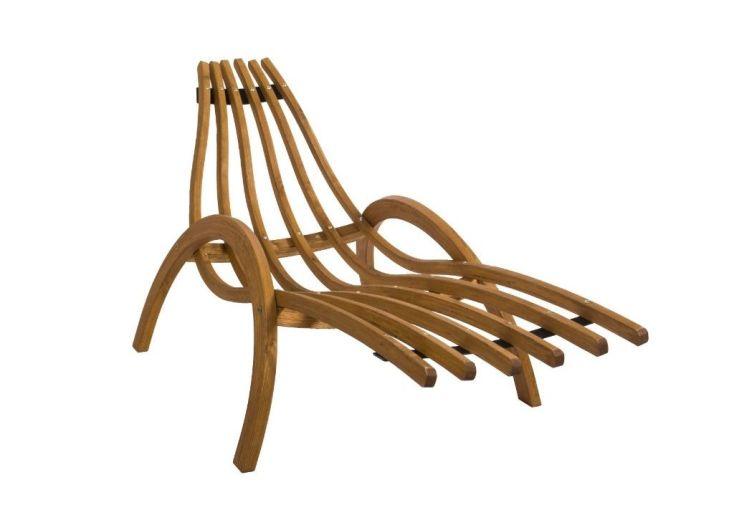 chaise longue ergonomique en épicéa traité autoclave 1,85 m