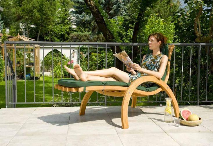 bain de soleil en bois traité autoclave 185 cm fsc