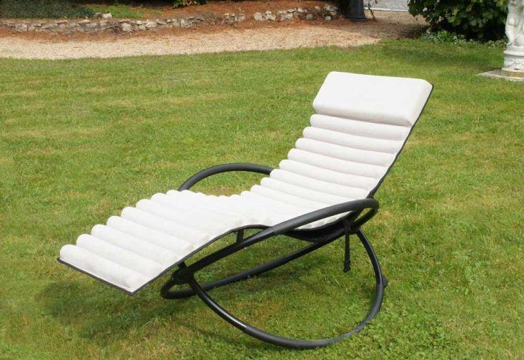 Bain de soleil Textilène Swing-Futon (77x150x90)