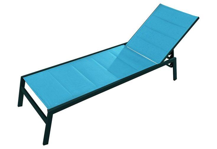 Bain de Soleil Alu/Textilène 5 Positions Pacific Turquoise