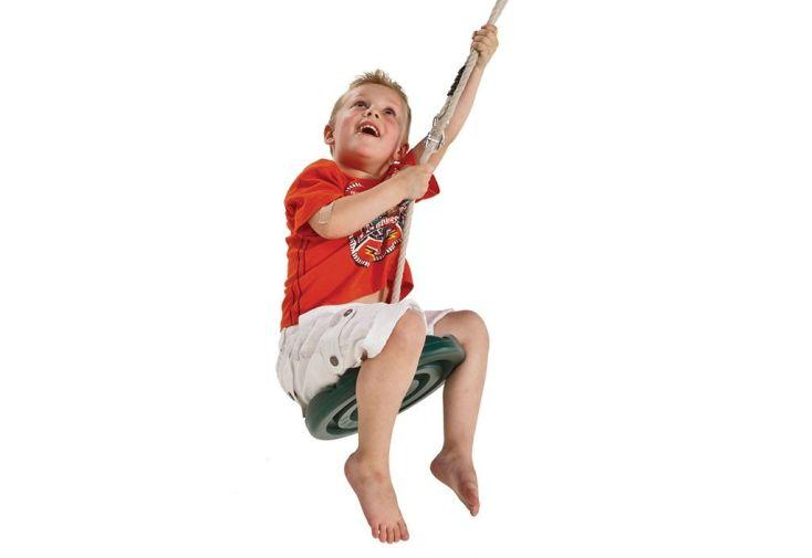 Enfant sur la Balançoire Disque en Plastique pour Tyrolienne Para