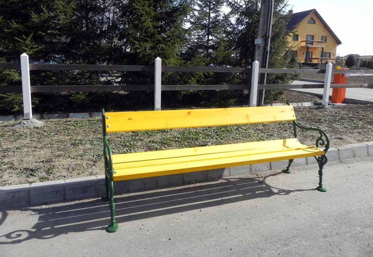 Banc de Jardin Bois 4 Places 190 cm 40 mm Vienne