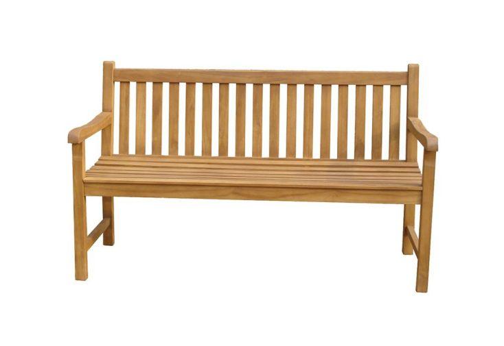 Banc de jardin en bois de teck imputrescible 150 cm 3 places