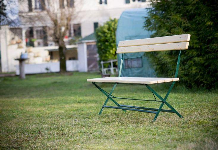 Banc de Jardin Pliable en Bois 4 Places Vichy