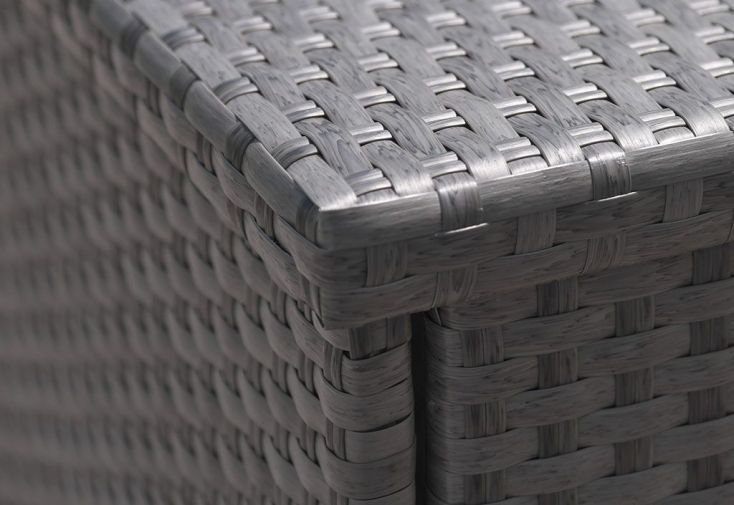 Coffre de rangement exterieur resine tressee gallery of - Coffre en resine tressee pour exterieur ...