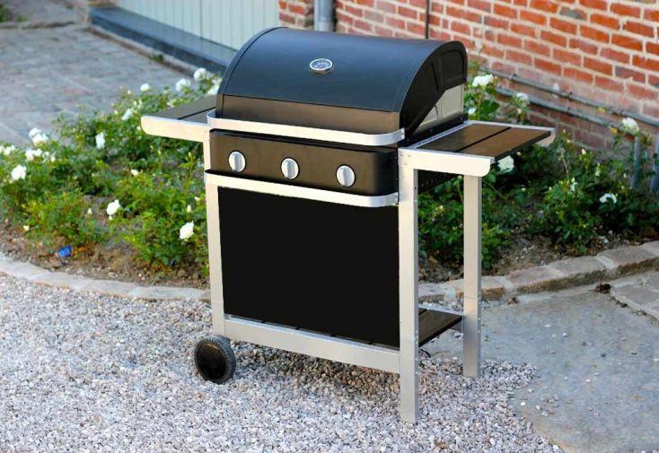 Barbecue Gaz Américain First 3 Brûleurs + Chariot