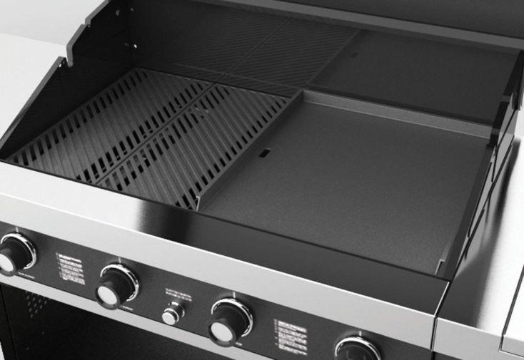 Barbecue Gaz GTI4 + Réchaud (14+3,5kw)