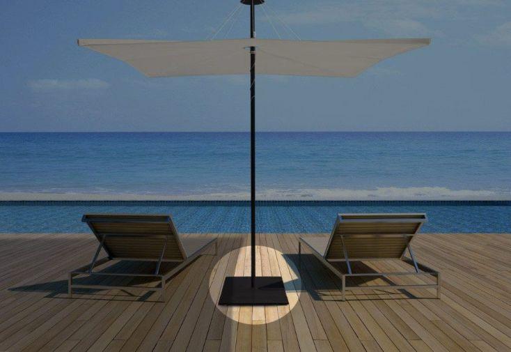 Base de parasol en acier galvanisé brun noir carré