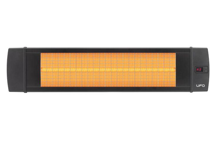 chauffage électrique extérieur halogène 2500 watts black line 4 niveaux de puissance