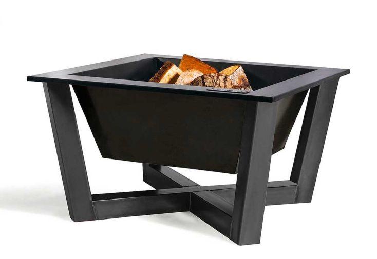 Braséro carré en acier brut Brasil de Cookking 70 x 70 cm
