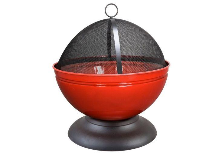 Braséro en Acier Globe Rouge
