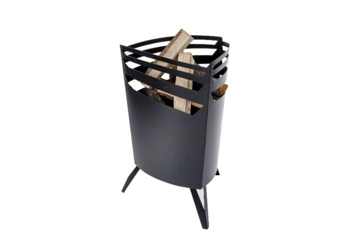 Braséro Move en Acier Noir Mat 53x50x72cm (l,l,h)