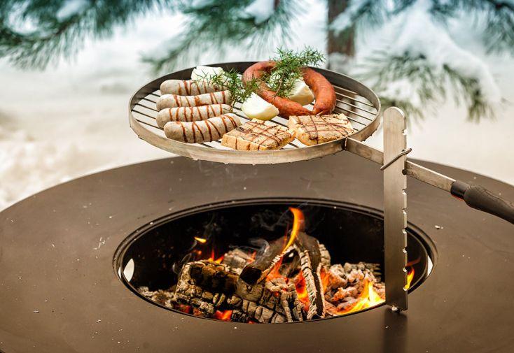 Brasero Barbecue En Acier Olymp 100 Cm Grille De Cuisson Feu