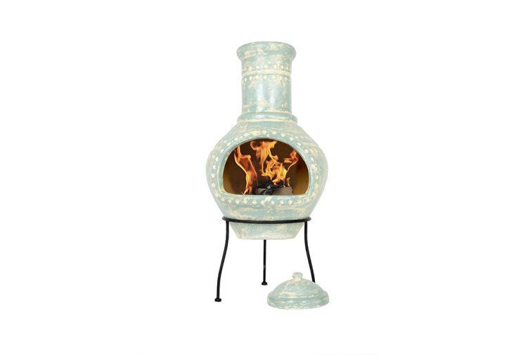 cheminée mexicaine en terre cuite Lumbre de 95 cm de hauteur