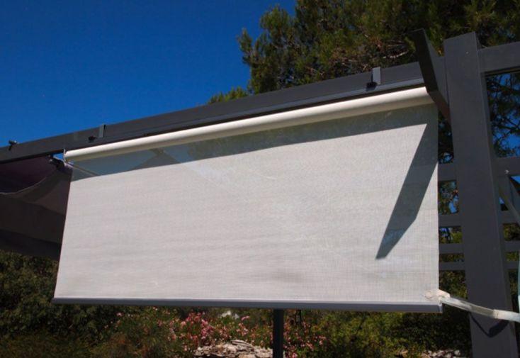 Rideau Brise Soleil pour Pergola 120 cm