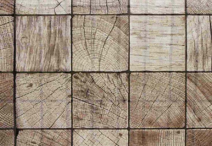 Brise vue d coratif en polyester carr bois au m asystolie for Brise vue polyester