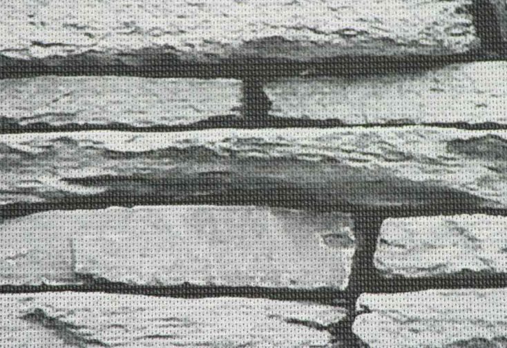 Brise Vue Décoratif en Polyester Pierre Grise au m²