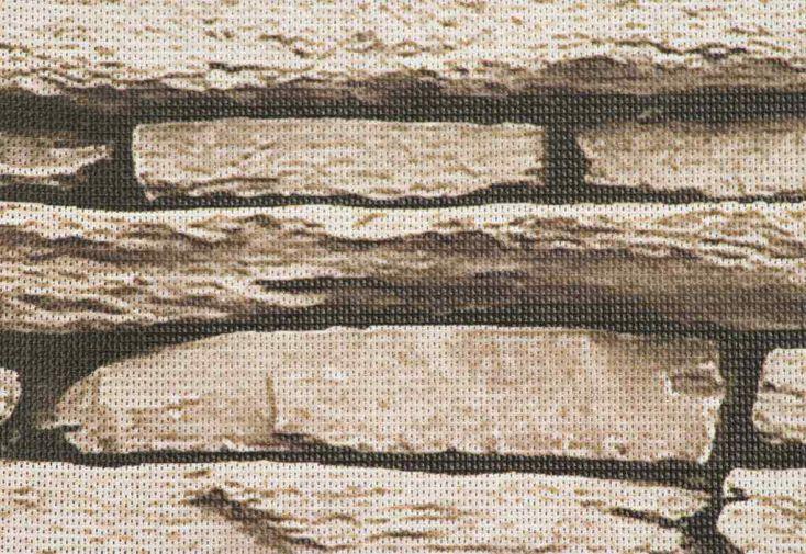 Brise Vue Décoratif en Polyester Pierre Naturelle au m²