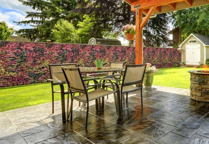 Brise vue d coratif en polyester lierre automnal au m for Pic decoratif pour jardin