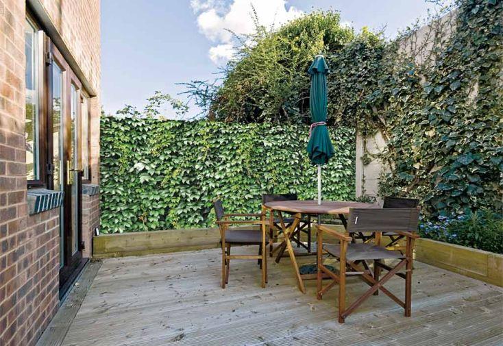 Brise Vue Décoratif en Polyester Lierre Vert au m²