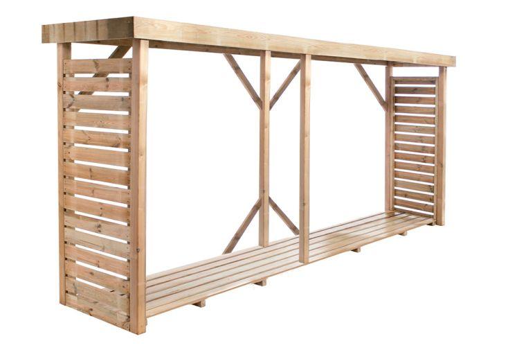 Bûcher en bois traité autoclave classe 3 capacité de stockage 3,8 m³