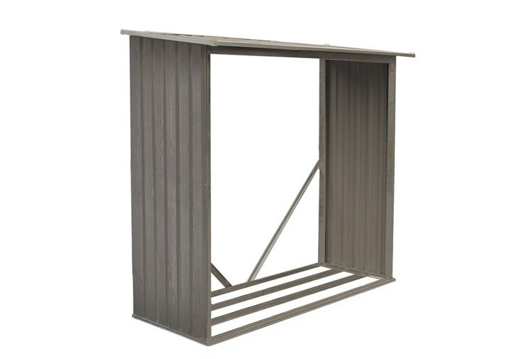 b cher pour abri de jardin en m tal look bois vieilli chal t jardin. Black Bedroom Furniture Sets. Home Design Ideas