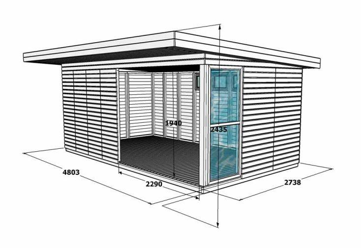 Bungalow Design Airi 13A Bois 19mm (480x273x243)