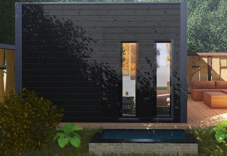 Bungalow Studio 3,5x4m en Douglas Livré Monté