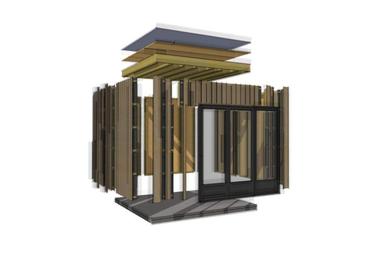 Bungalow Design Studio (330x370) Livré Monté