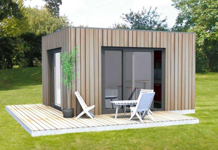 Chalet en Bois Habitable 12 m² - Bungalow Design Studio 400 x 300 cm