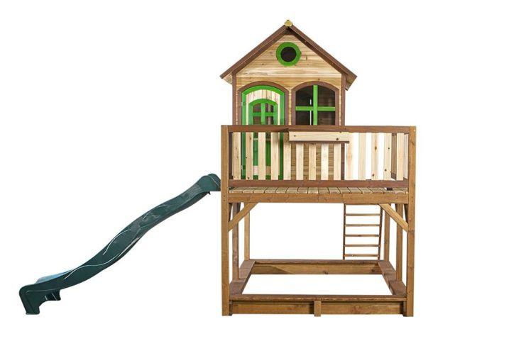 Maison Enfant Bois Liam 1 + Toboggan