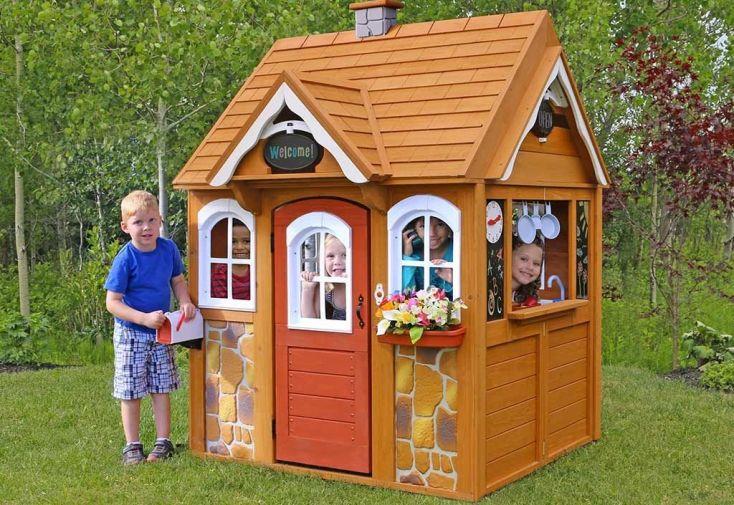 cabane de jardin en bois pour enfant