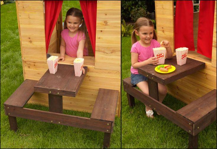 Maison Enfant Bois + Table Pique Nique