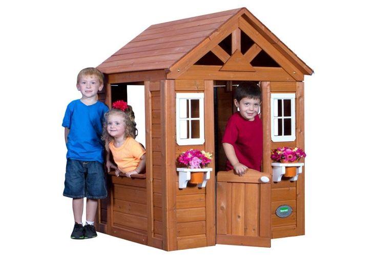 cabane en bois avec cuisine intégrée dès 2 ans