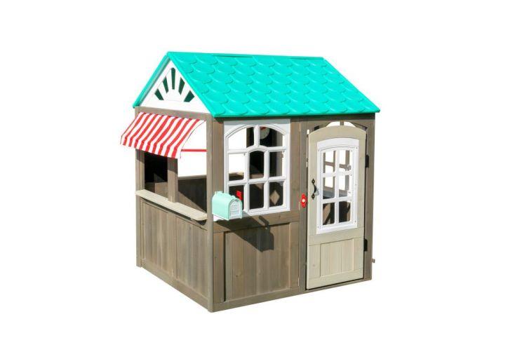 Cabane pour enfant en bois de cèdre Kidkraft avec toiture bleu