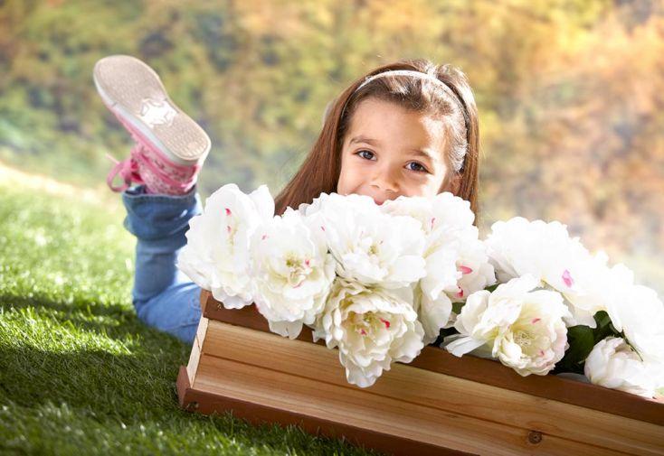Maison Enfant Bois Alice + Bac à Fleurs Offert