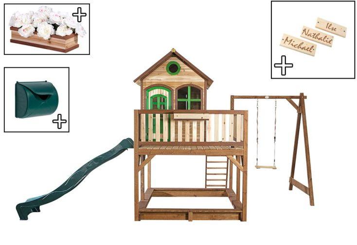 Maison Enfant Bois Liam 2 + Accessoires Offerts