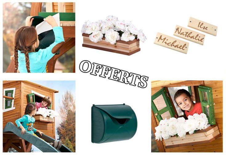 Maison Enfant Bois Max + Accessoires Offerts