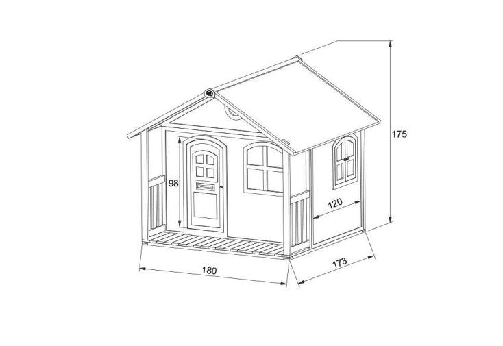 Maison enfant bois milan playhouse milan axi for Plan de maison pour enfant