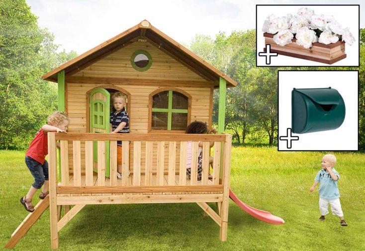 Maison Enfant Bois Stef + Accessoires Offerts