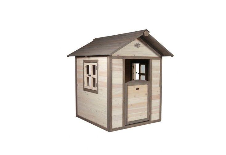 Maison pour Enfant Bois Lodge + Tag Prénom Offert