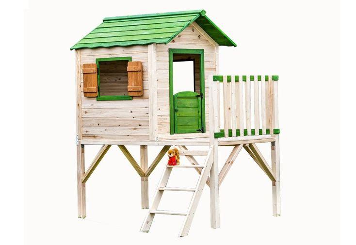 cabane d'enfants en bois sur pilotis FSC 190 x 170 cm