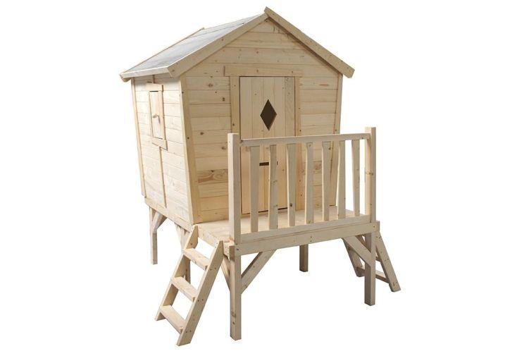 cabane maisonnette en bois FSC livrée brut